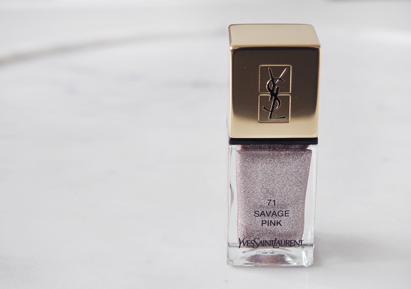 YSL savage pink nagellak